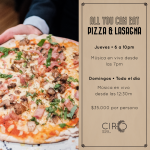 All You Can Eat de Pizza y Lasagna por $35.000 por persona