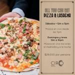 Todo lo que puedas comer en pizza y lasagna en Marriott Bogotá