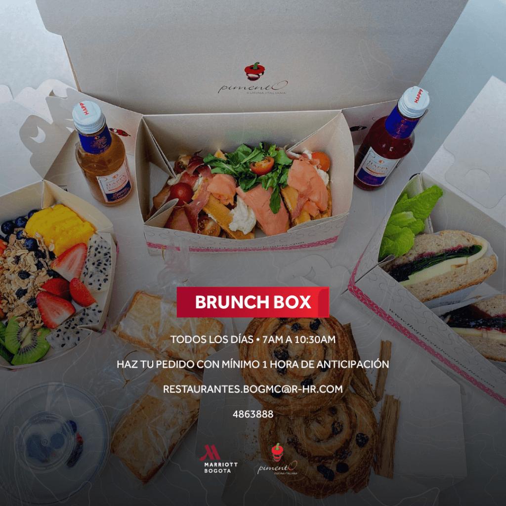 Todos los días Brunch Box para llevar en Marriott Bogotá
