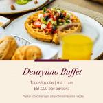 Desayuno buffet todos los días en Marriott Bogotá