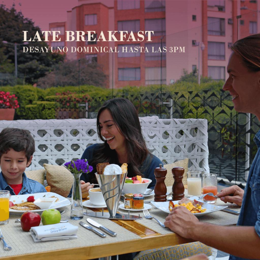 Late Breakfast: desayuna hasta las 3pm los domingos en Marriott Bogotá