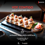 Menú Take Away de sushi en Marriott Bogotá