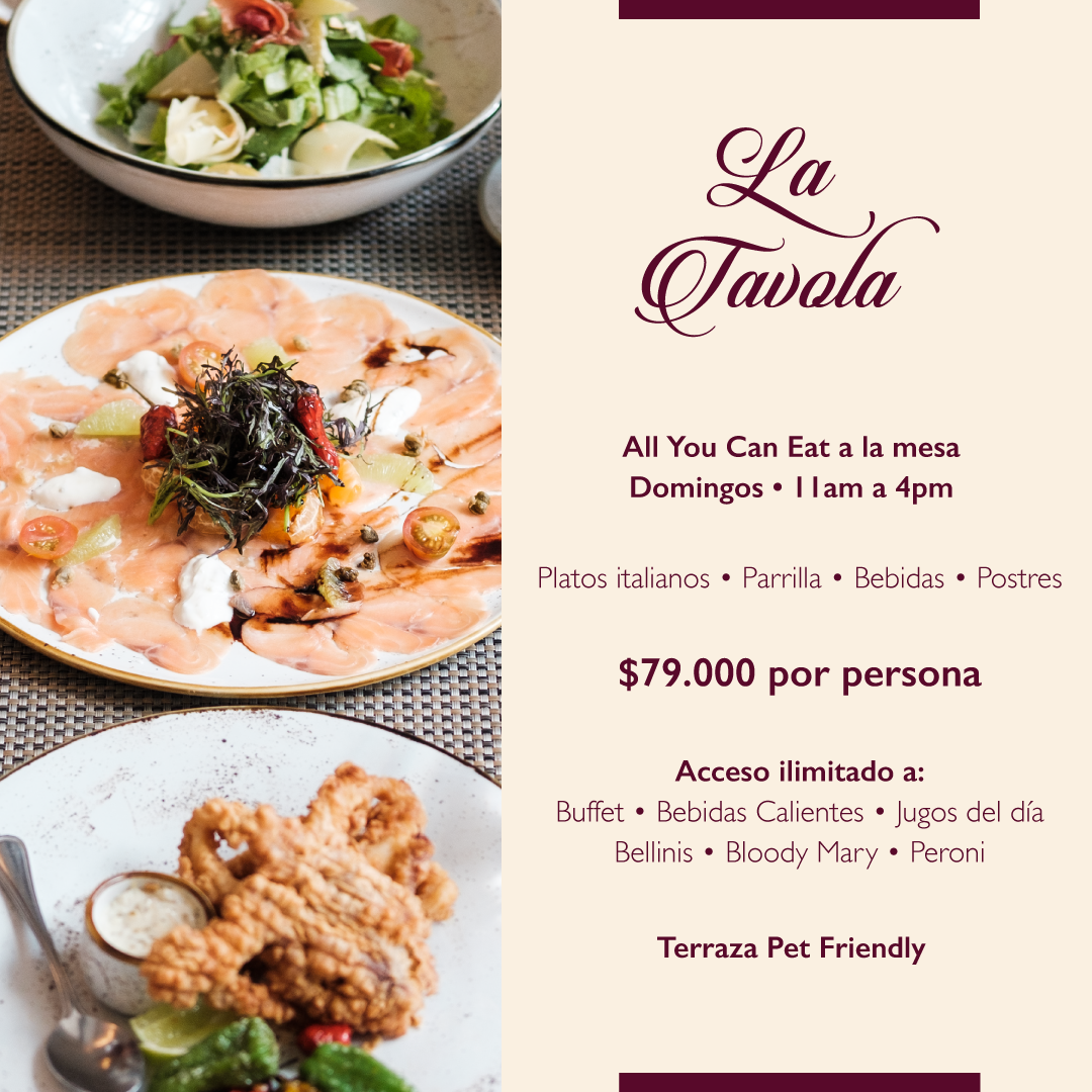 All You Can Eat italiano $79.000 por persona