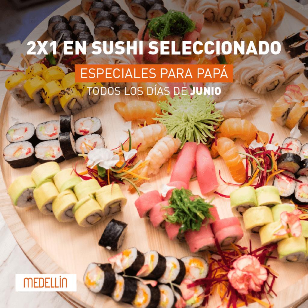 2x1 en sushi en Marriott Medellín