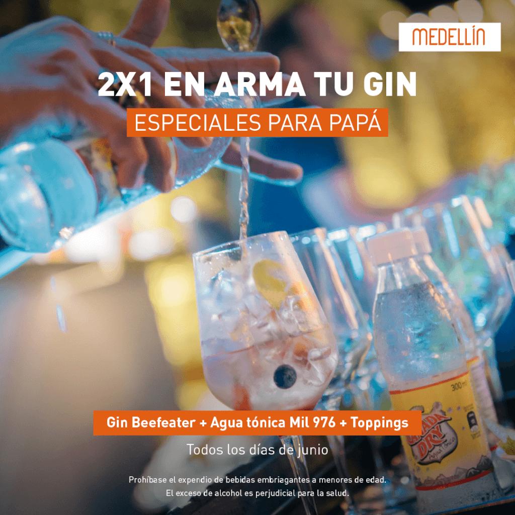 2x1 en Gin Beefeater en El Poblado   Marriott Medellín