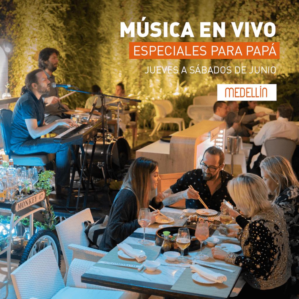Rock y pop en vivo en Marriott Medellín de jueves a sábados